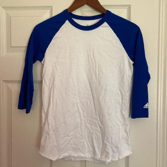 Boys Adidas Baseball Long Sleeve Shirt